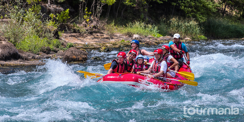 Canyoning and Rafting Tour from Side
