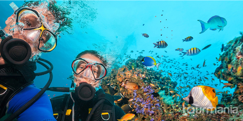 Scuba Diving from Side