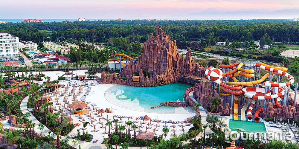 The Land of Legends Theme Park from Antalya