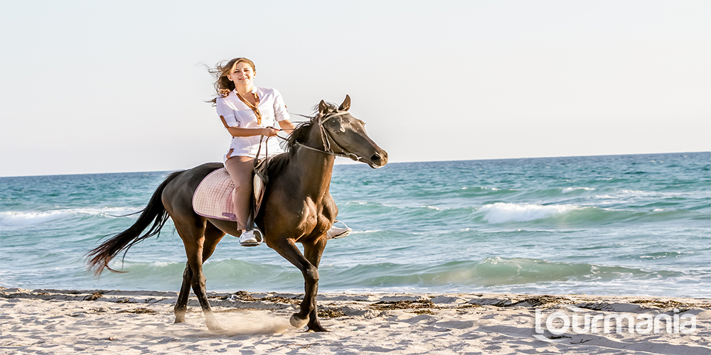 Horseback Riding at the Golden Sandy Beach of Antalya