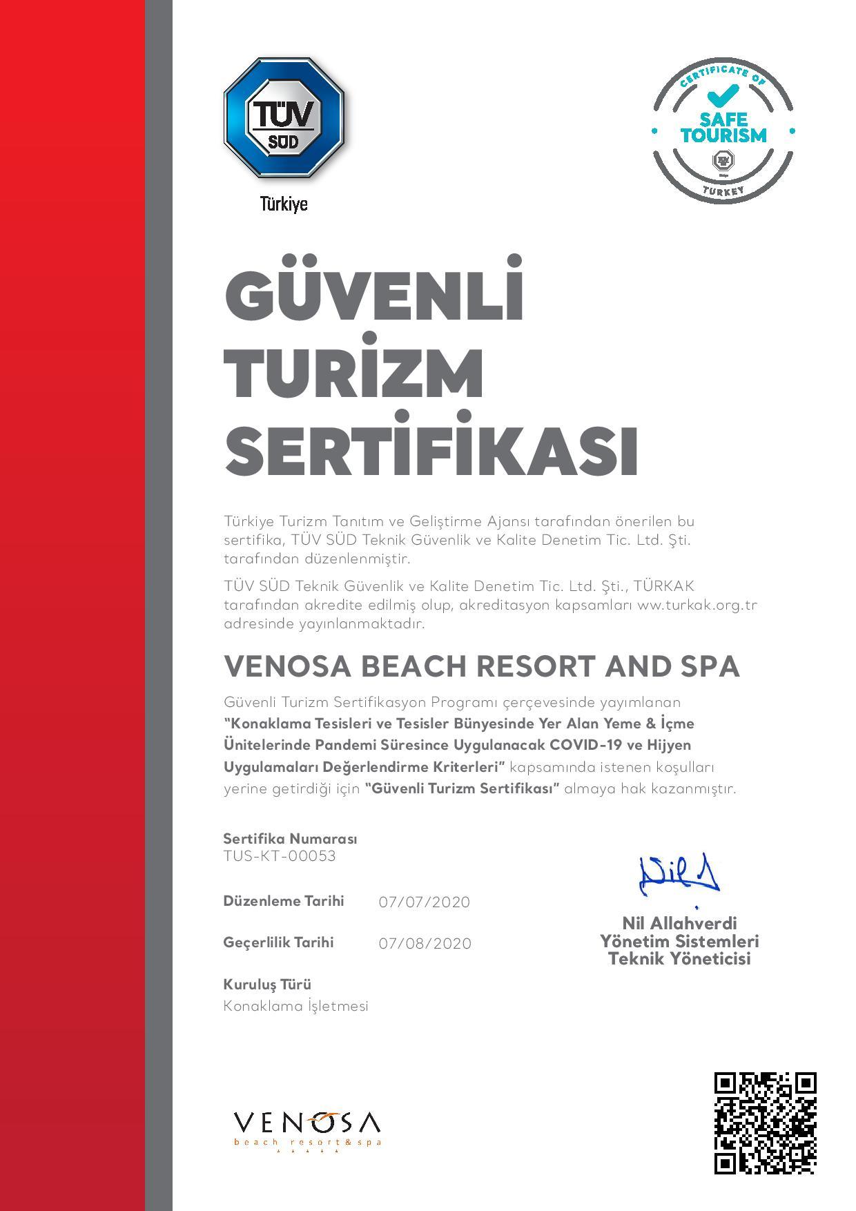 Safe Tourism Certificate